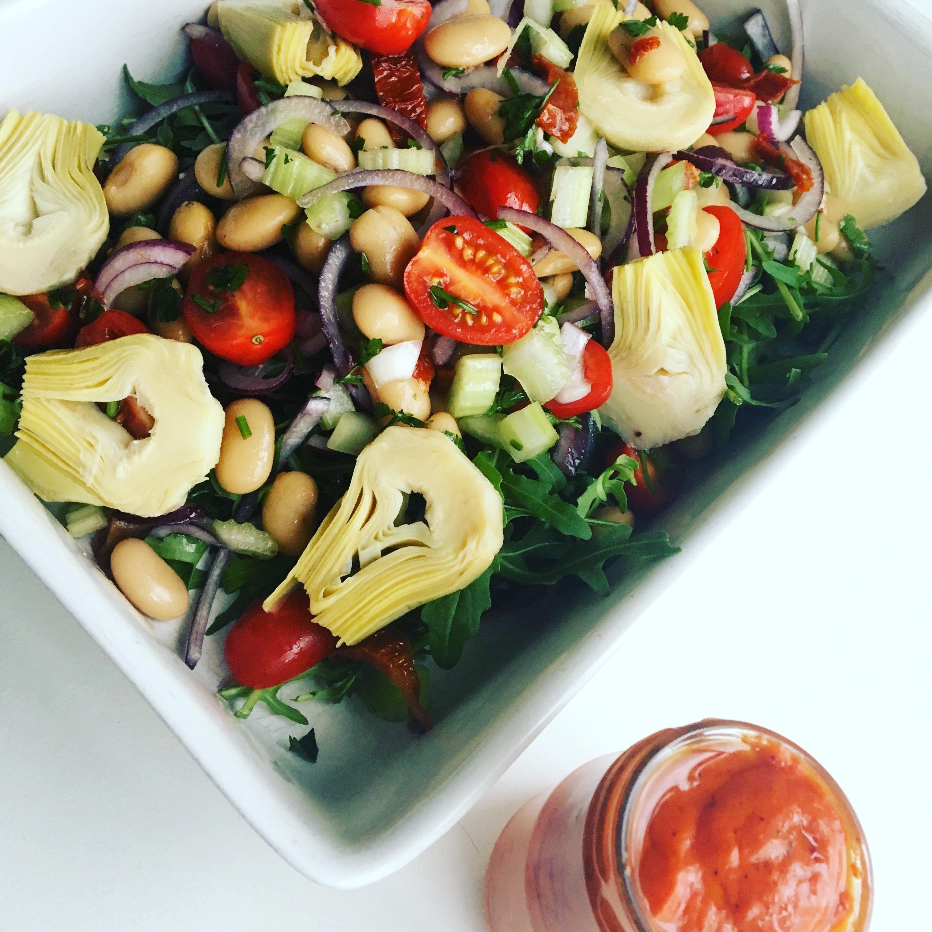 snelle salade met lima bonen