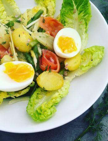 Salade met gesmoorde venkel en zalm