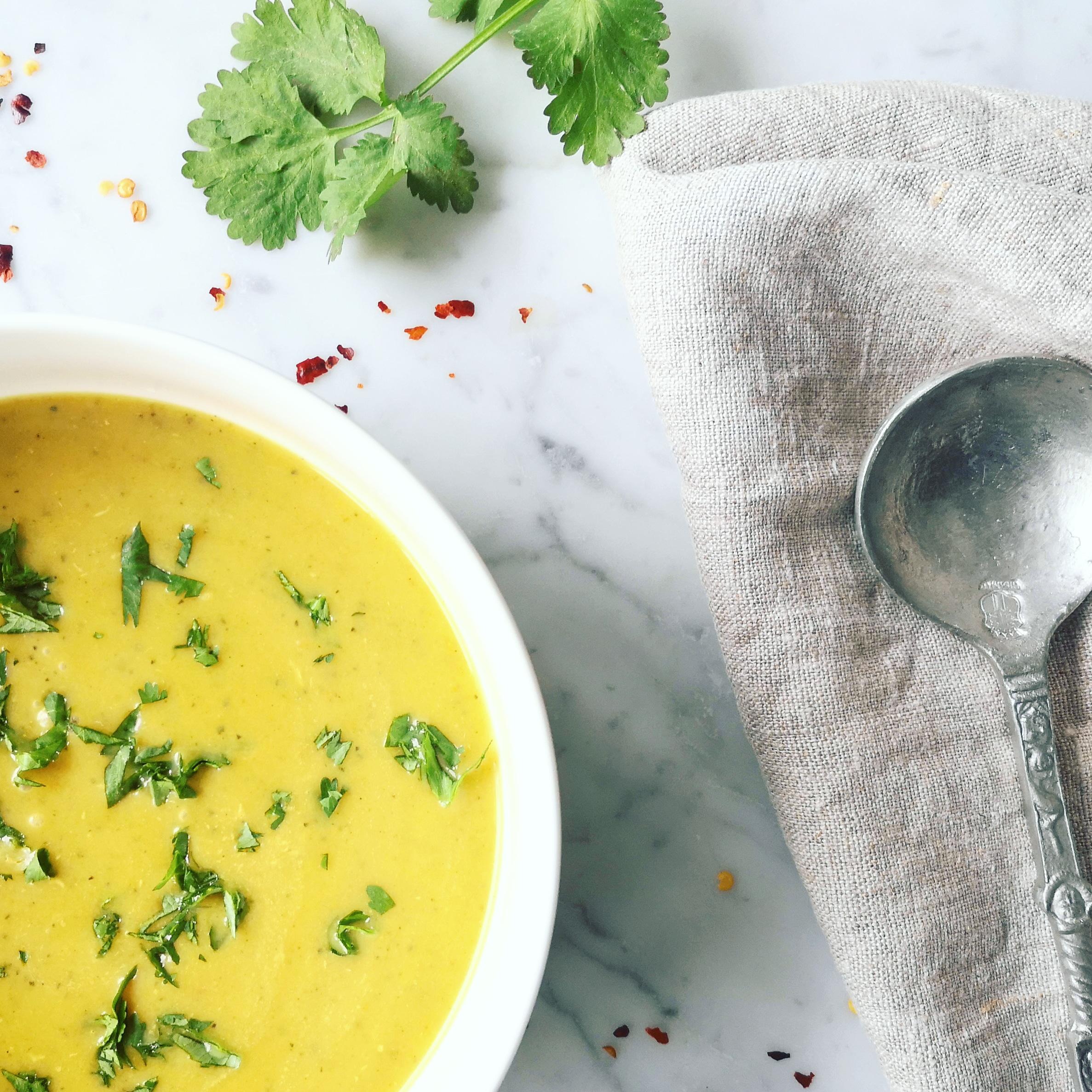 vegan courgette kokos soep