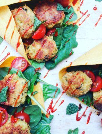 Wortelwraps met falafel