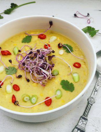 Mexicaanse mais soep