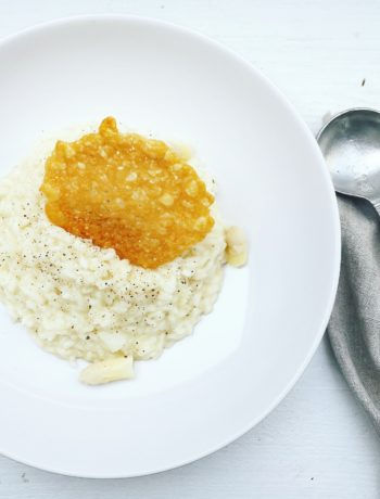 risotto met witte asperges