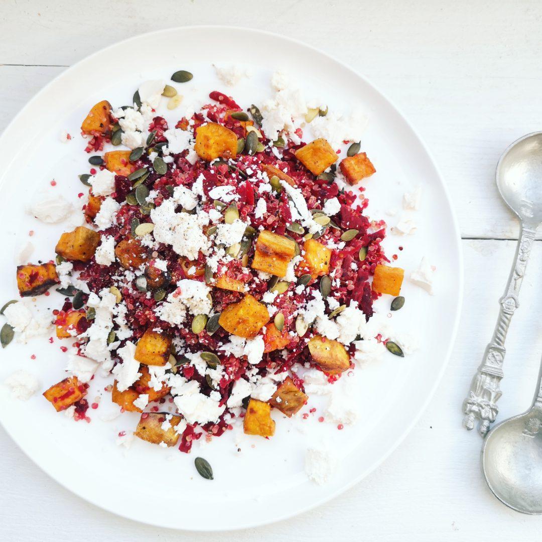 Quinoa salade met bietjes en feta