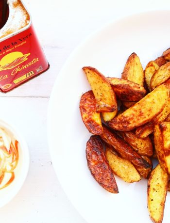 Gekruide aardappeltjes uit de oven met harissa mayonaise